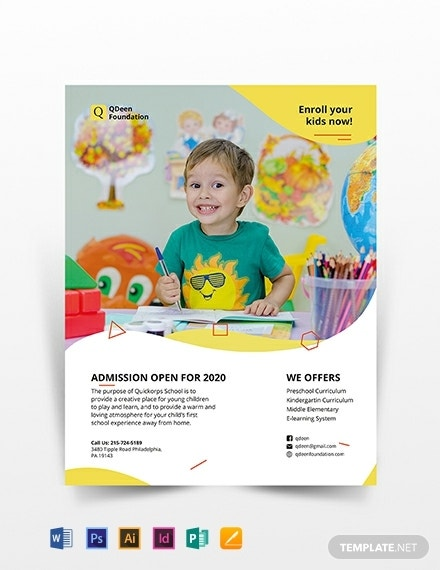 school flyer template 440x570 1