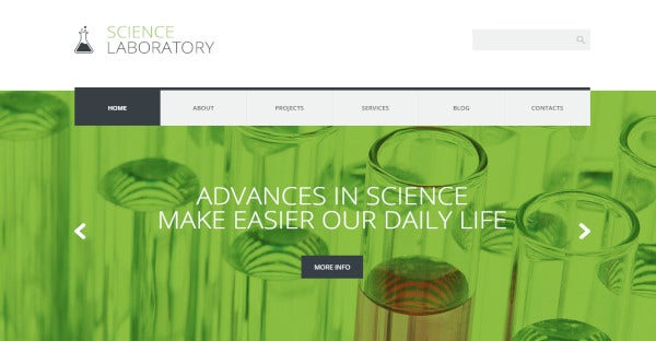 Science Laboratory - 600+ Google fonts WordPress Theme