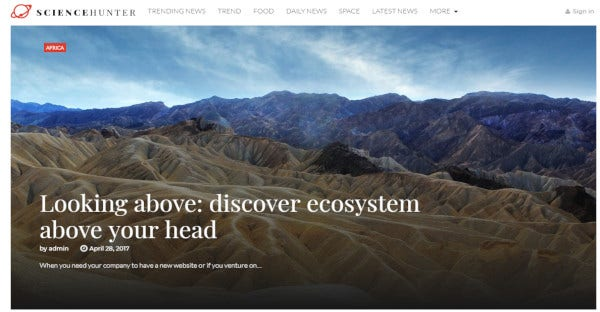 ScienceHunter - Easy-To-Install WordPress Theme
