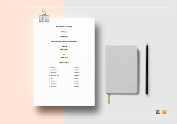 scientific report template