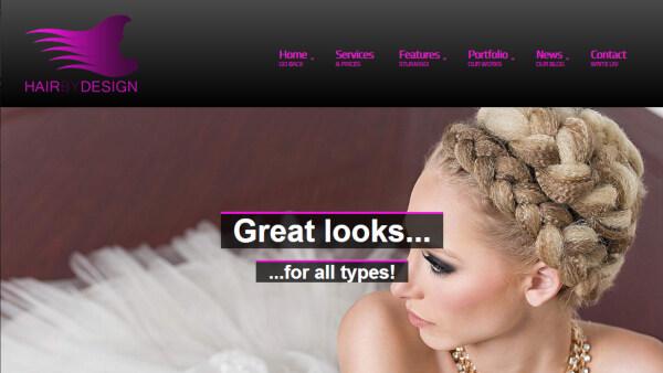 HairByDesign - Social Menu WordPress Theme