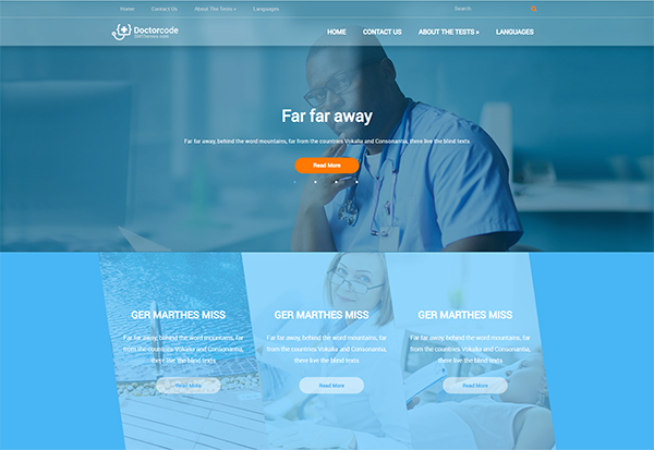 DoctorCode – Social Sharing Enabled WordPress Theme