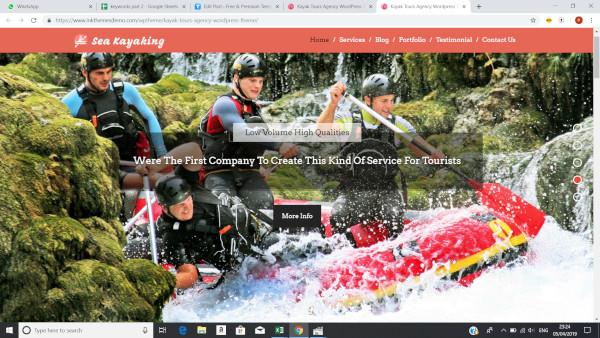 seakayaking cross browser wordpress theme