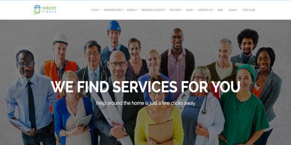 Service Finder – CSS3 WordPress Theme