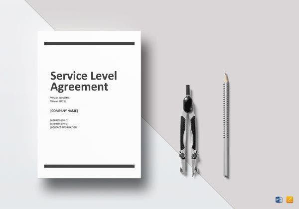 service level agreement mockup