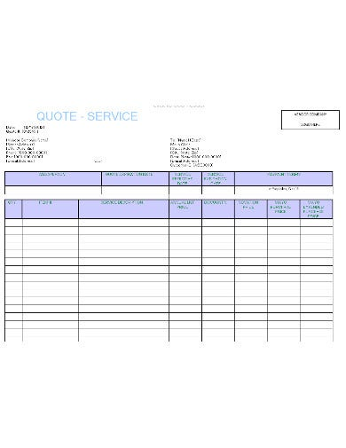 service quotation template in xls