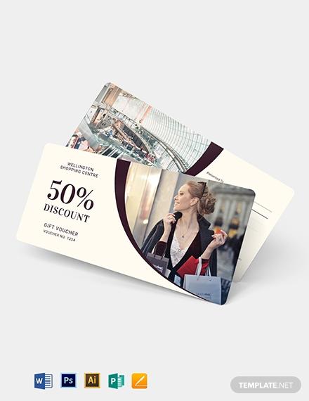 shopping discount gift voucher design