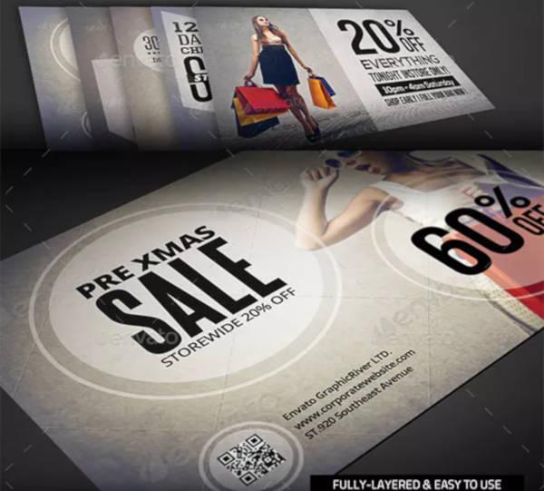 Shopping Sale Postcard Template