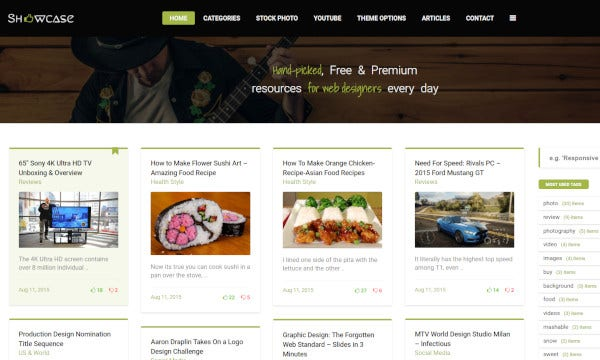 showcase user friendly wordpress theme
