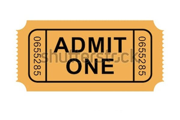 image about Admit One Ticket Printable called 19+ Confess One particular Ticket Templates inside AI Phrase Internet pages PSD