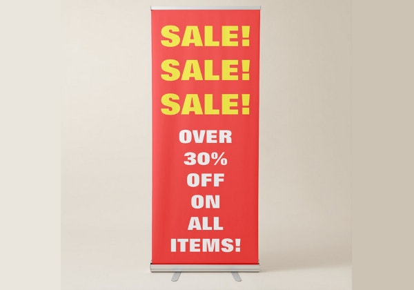 simple advertising sales banner