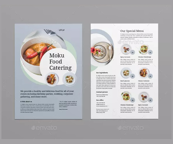 simple catering flyer