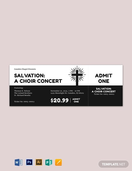 simple church ticket template1