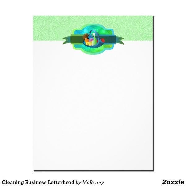 simple cleaning business letterhead format e1555760331815