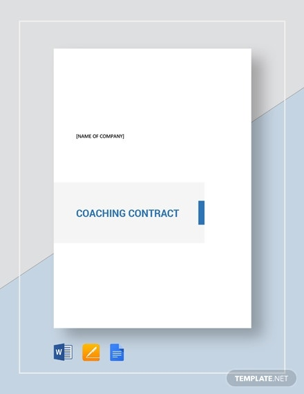 simple coaching contract