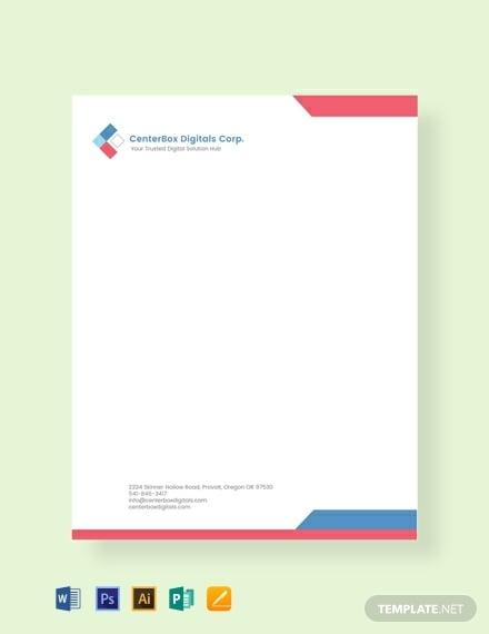 simple company letterhead template