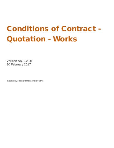 simple contractor quotation