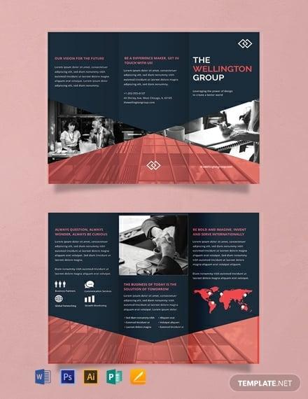 simple corporate event brochure template