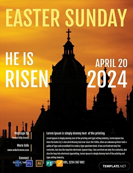 simple easter church flyer design