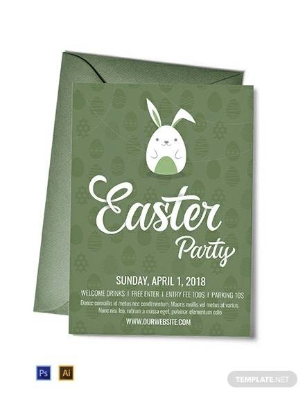 simple easter party invitation sample
