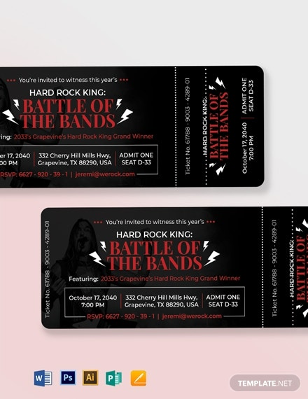 simple event ticket invitation format