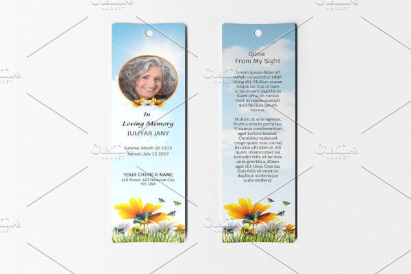 simple-funeral-bookmark-template