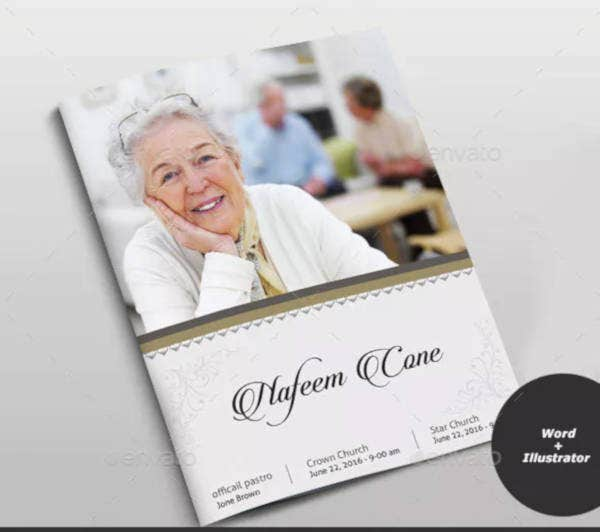 simple funeral brochure