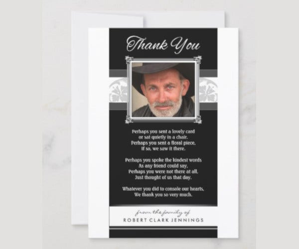 simple funeral memorial card template in psd