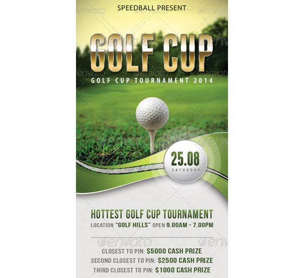 simple golf ticket