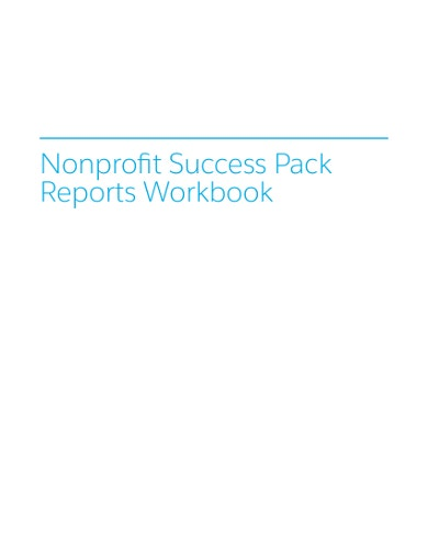 simple nonprofit report template