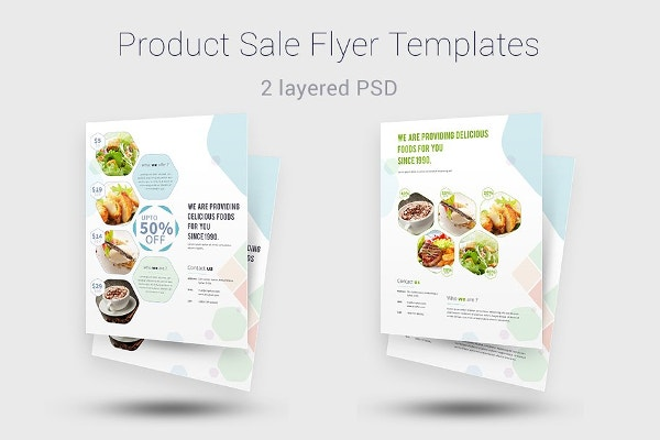 simple product sale flyer templates