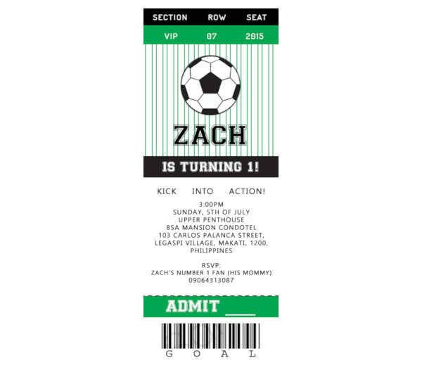 Simple Soccer Ticket