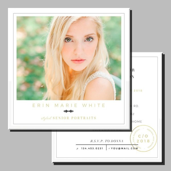 Simple Square Graduation Announcement Format