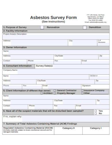 simple survey form template