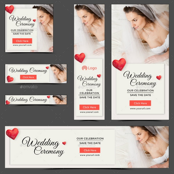 Simple Wedding Ceremony Banner Sample