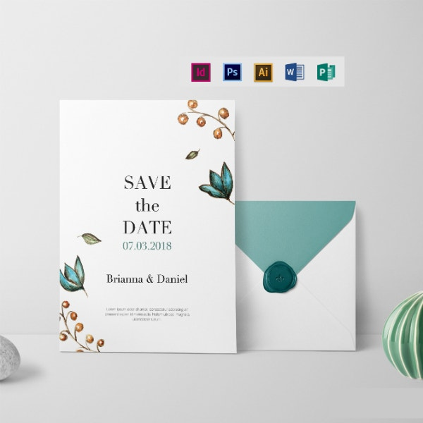 simple wedding invitation card example