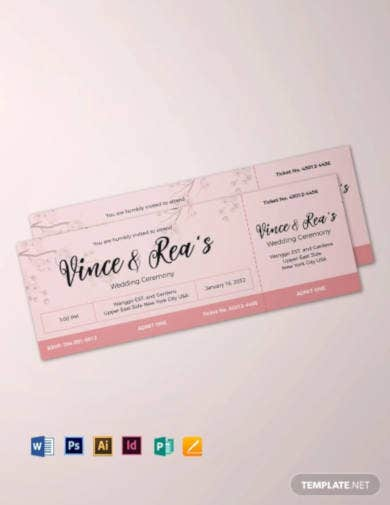 simple-wedding-ticket-template