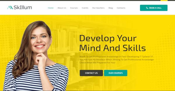 skillum – responsive wordpress theme