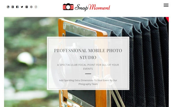 snap moment – customizable wordpress theme