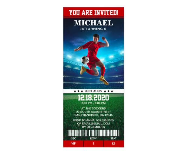 Soccer Birthday Party Ticket