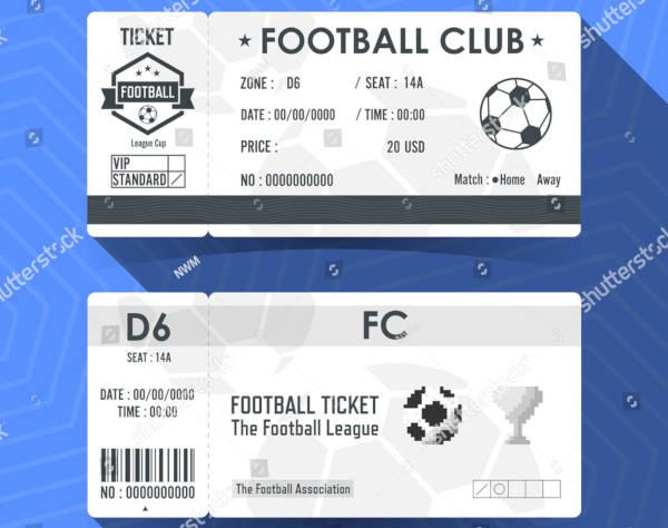Soccer Ticket Design