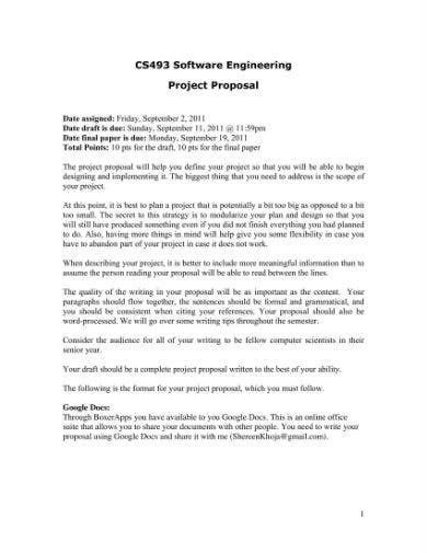 software project proposal 1