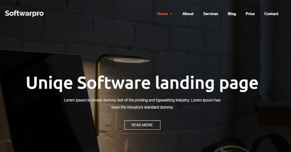 softwarepro software landing page sass wordpress theme