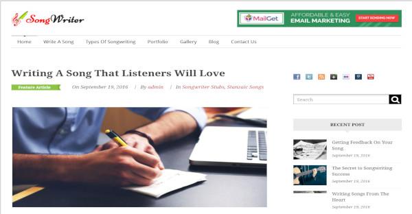 Songwriter - Responsive WordPress Theme