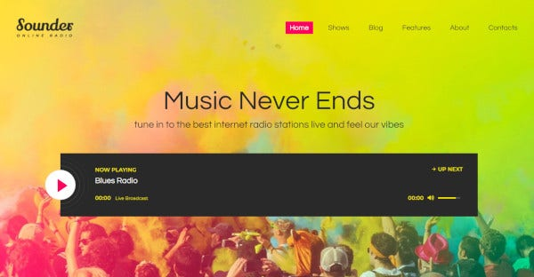 Sounder - Retina Ready WordPress Theme