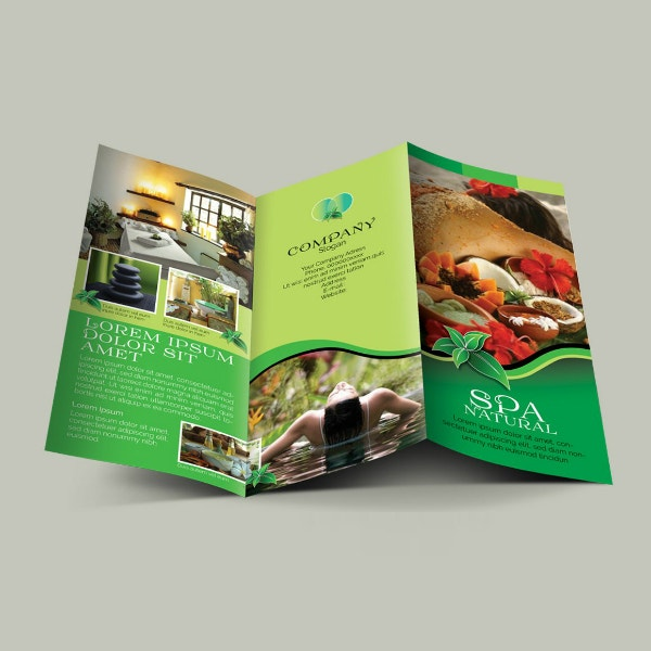 spa natural trifold brochure example