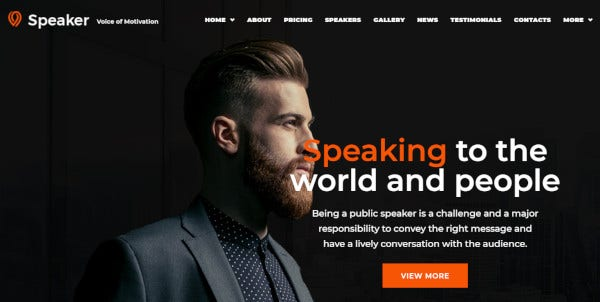 speaker cherry plugin wordpress theme