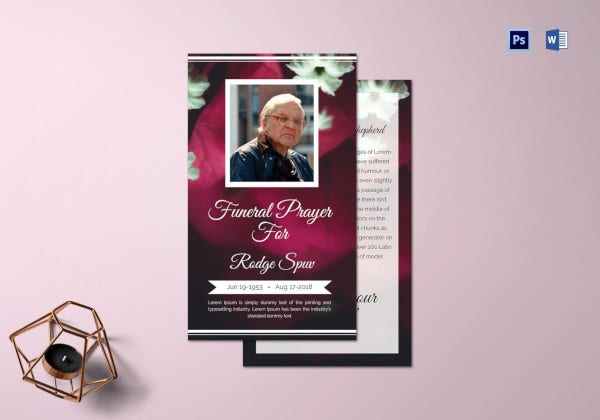 special-funeral-prayer-card-template