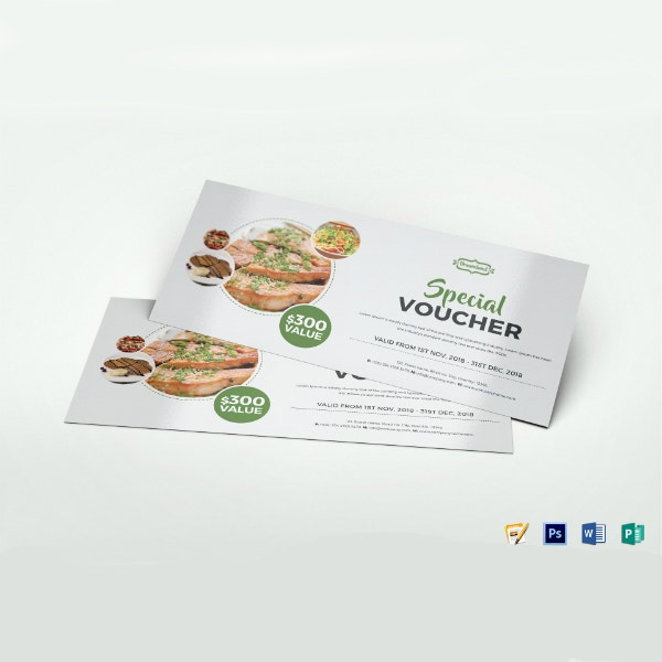 special modern food voucher template