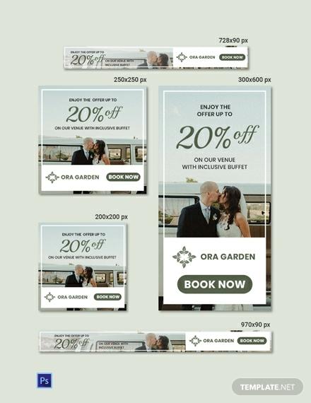 special wedding banner bundle layout